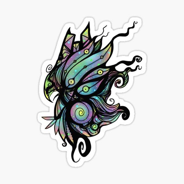 Psychedelic Universal Spirit Bird Symbol Sticker