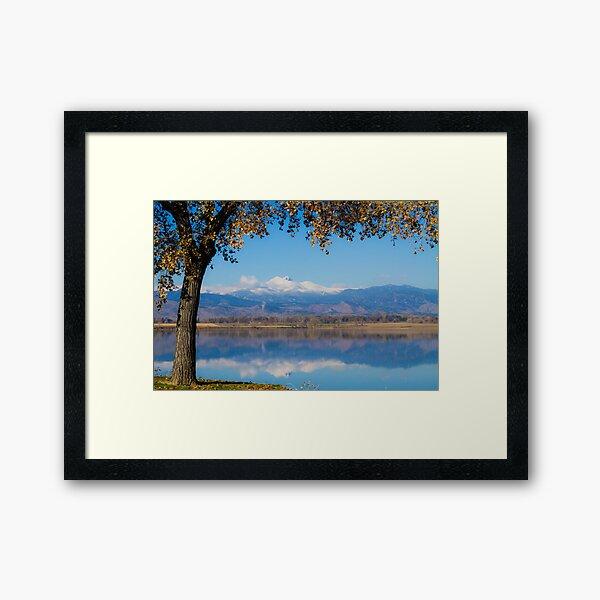 Reflections of Longs Peak  Framed Art Print