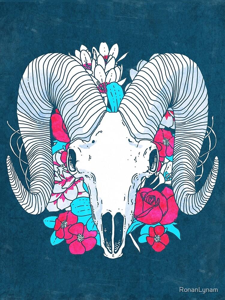 Flower Skull by RonanLynam