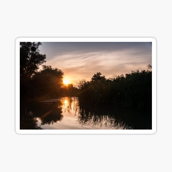 Sunset on the canal Sticker