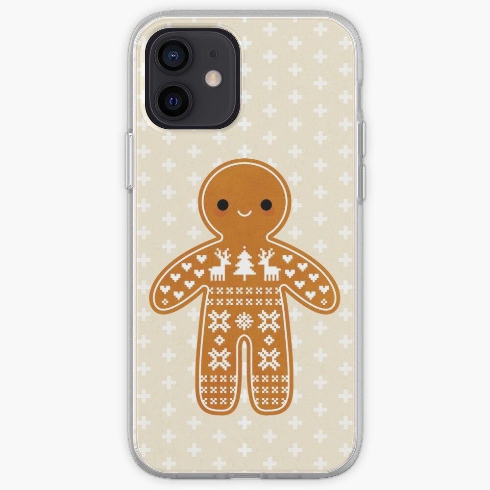 Sweater Pattern Gingerbread Cookie iPhone Case & Cover
