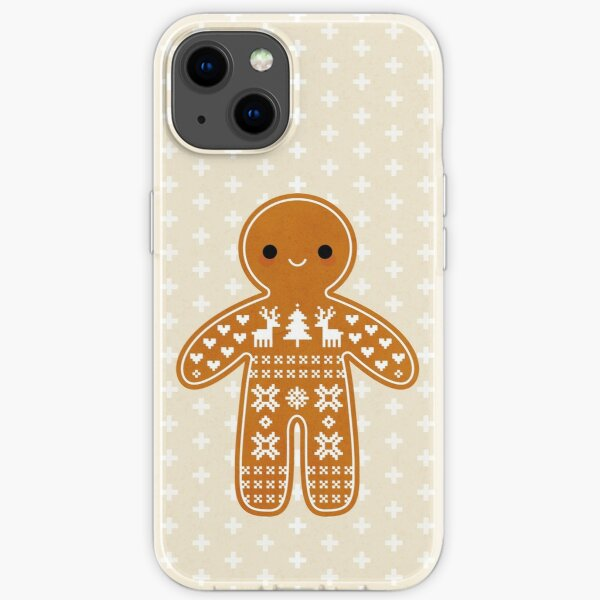 Sweater Pattern Gingerbread Cookie iPhone Soft Case