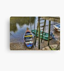 Boats in Tagus Affluent Canvas Print