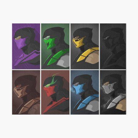 Mortal Kombat Ninjas Art Board Print