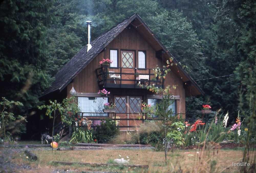 Grandma`s house in the Woods by lenslife