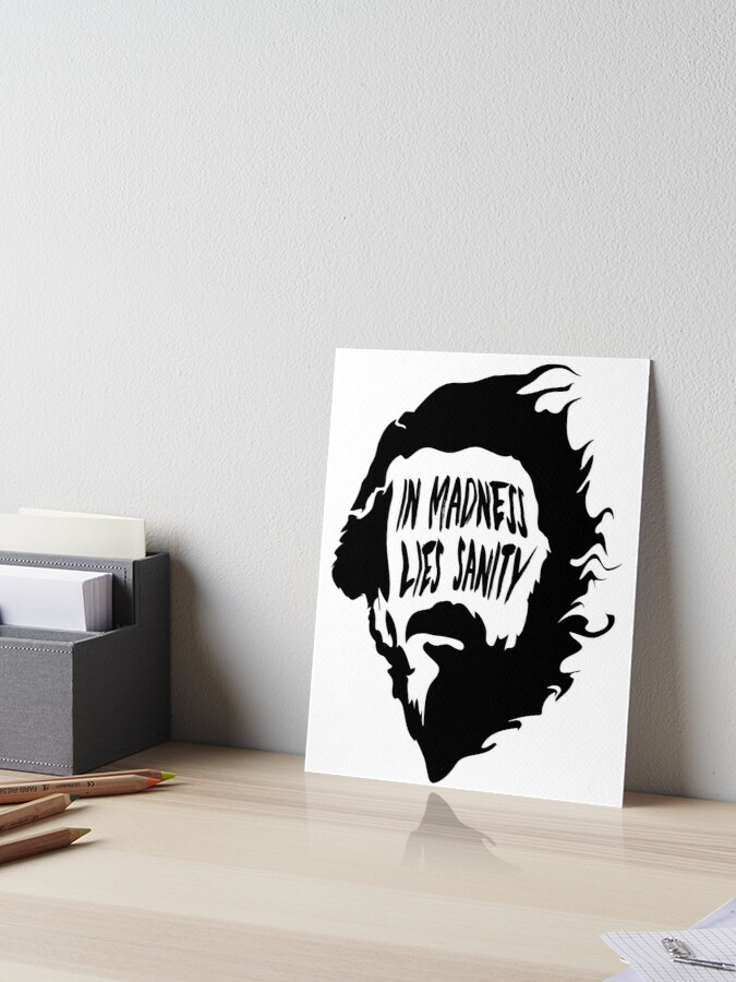 Alan Watts in Madness Lies Sanity quote sticker
