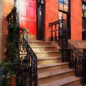 Greenwich Village Brownstone with Red Door by SudaP0408