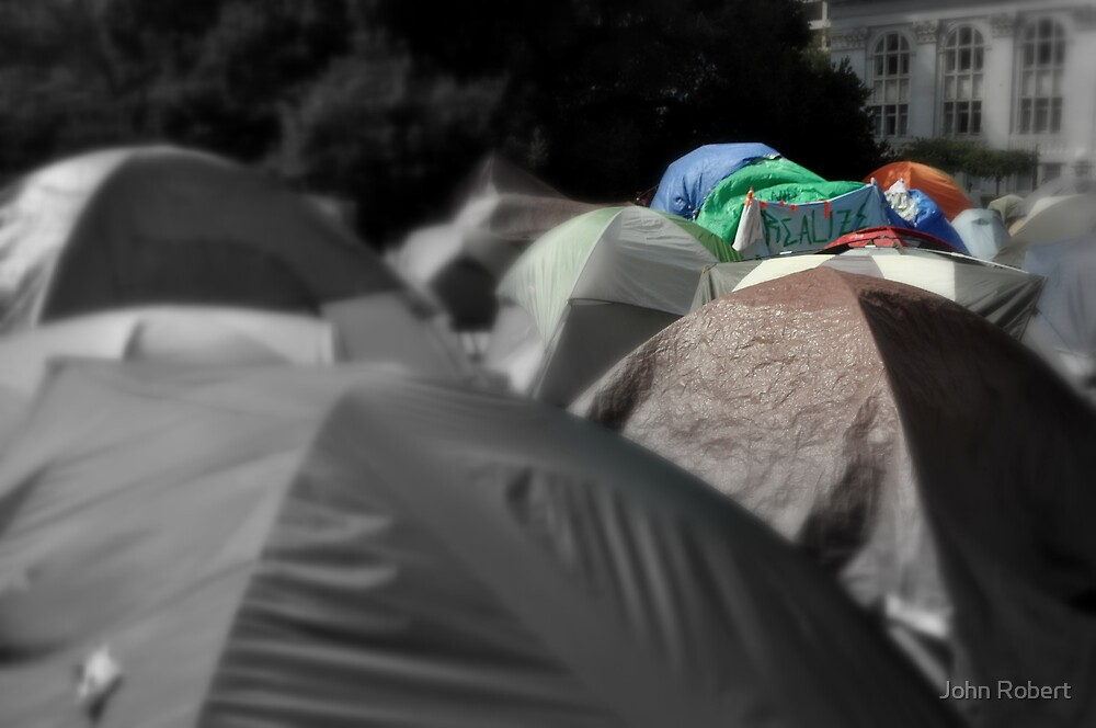 Occupy Oakland... be fore the storm by Bob Moore