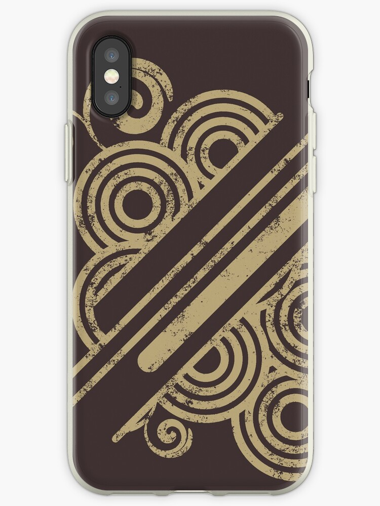 Circles and Lines iPhone Case by Denis Marsili