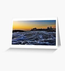 Sunrise water Greeting Card