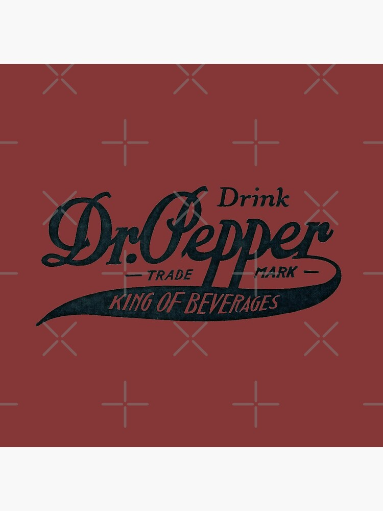Vintage Dr. Pepper Logo - King of Beverages (Black Text Version) by tennessee-carly
