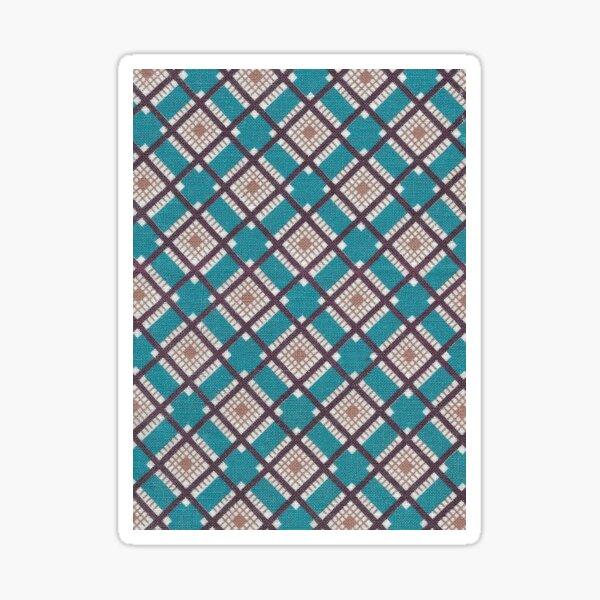 Vintage Mid-century Modern Fabric / Diamonds Sticker