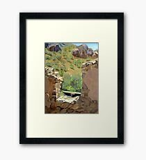 """View from the Saloon"" Framed Print"
