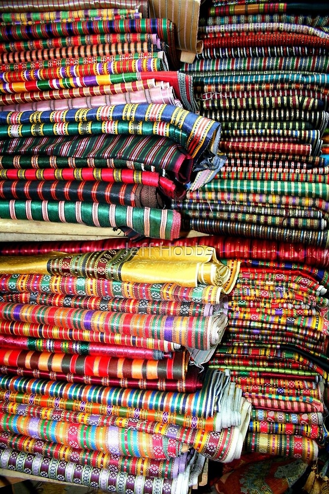 Textiles in Jerusalem by Jeff Hobbs