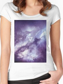 Geometric // Galaxy Women's Fitted Scoop T-Shirt
