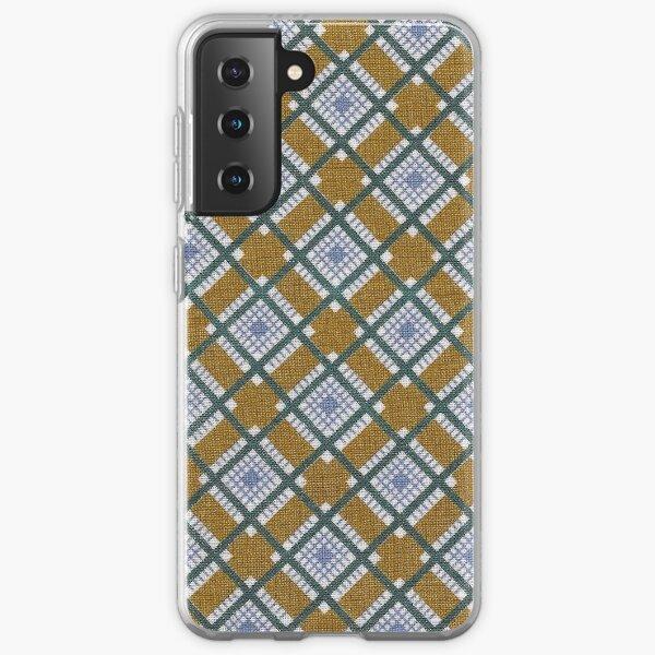 Vintage Mid-century Modern Fabric / Diamonds Samsung Galaxy Soft Case