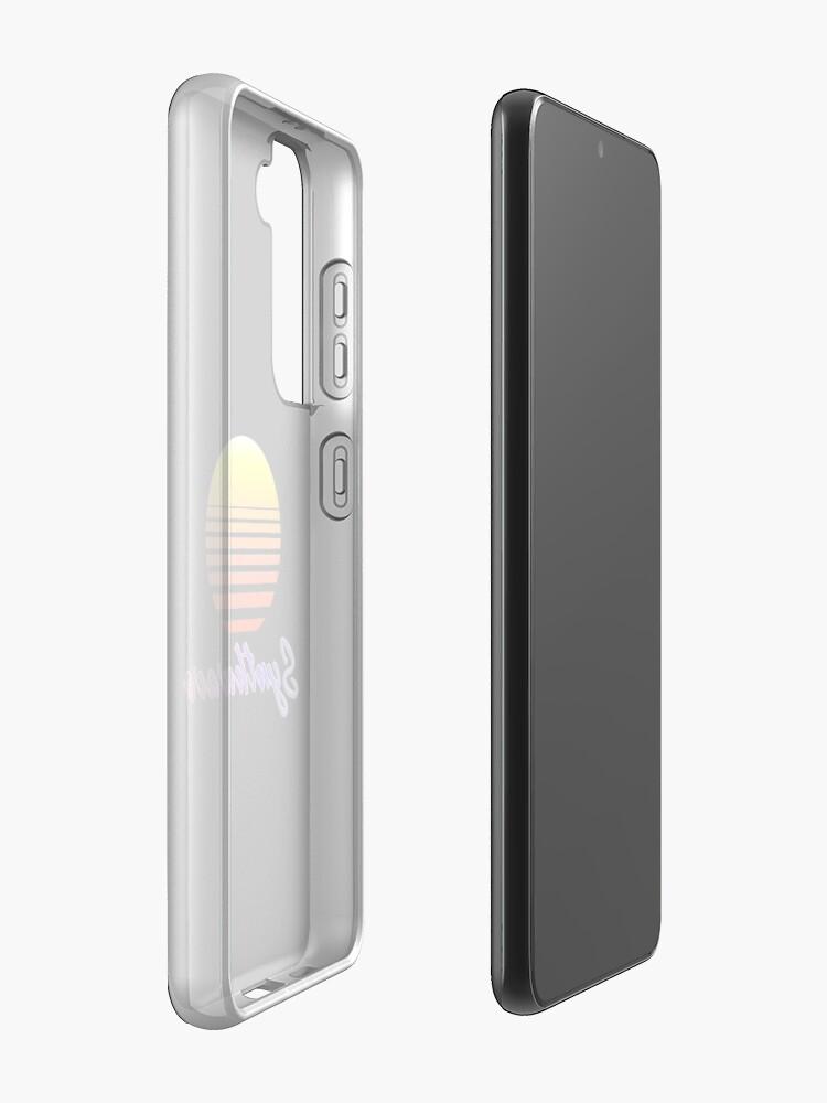 Alternate view of Synthwave Sun Samsung Galaxy Phone Case