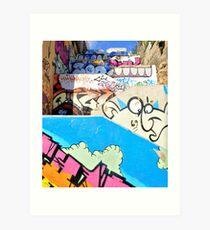 Stairway to graffiti heaven. Art Print