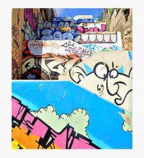 Stairway to graffiti heaven. Photographic Print