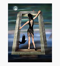 Gothic Princess in a Surreal Dreamscape Photographic Print