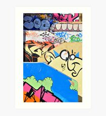 Graffiti steps 2. Art Print