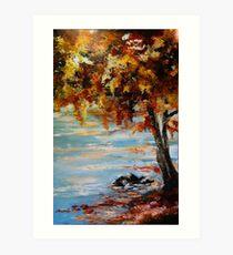 Autumn Beach Art Print