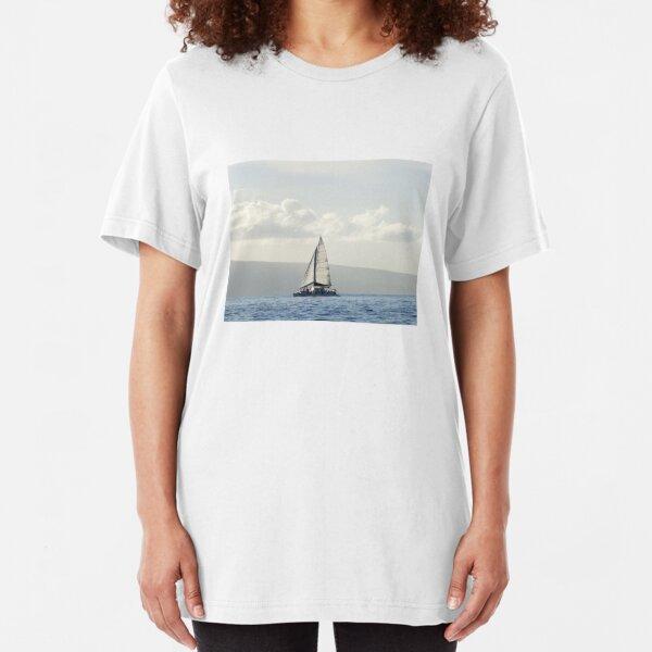 Maui Sailboat Photography Slim Fit T-Shirt