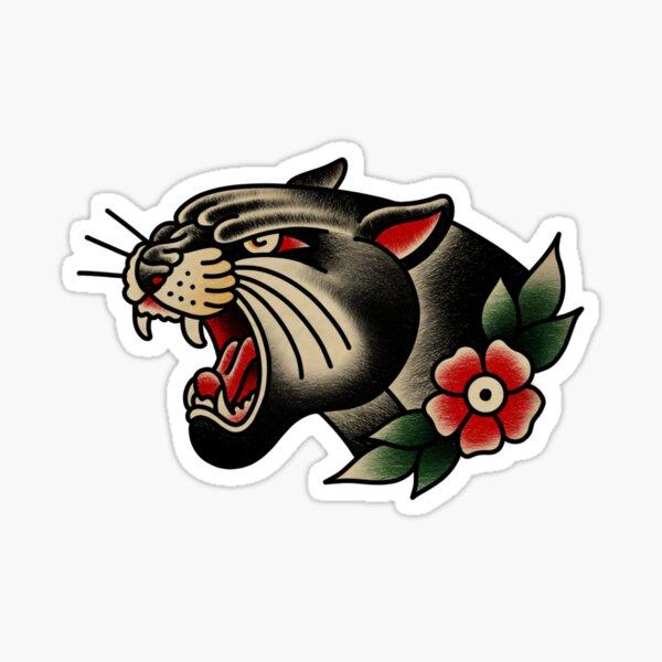 Trad panther Sticker