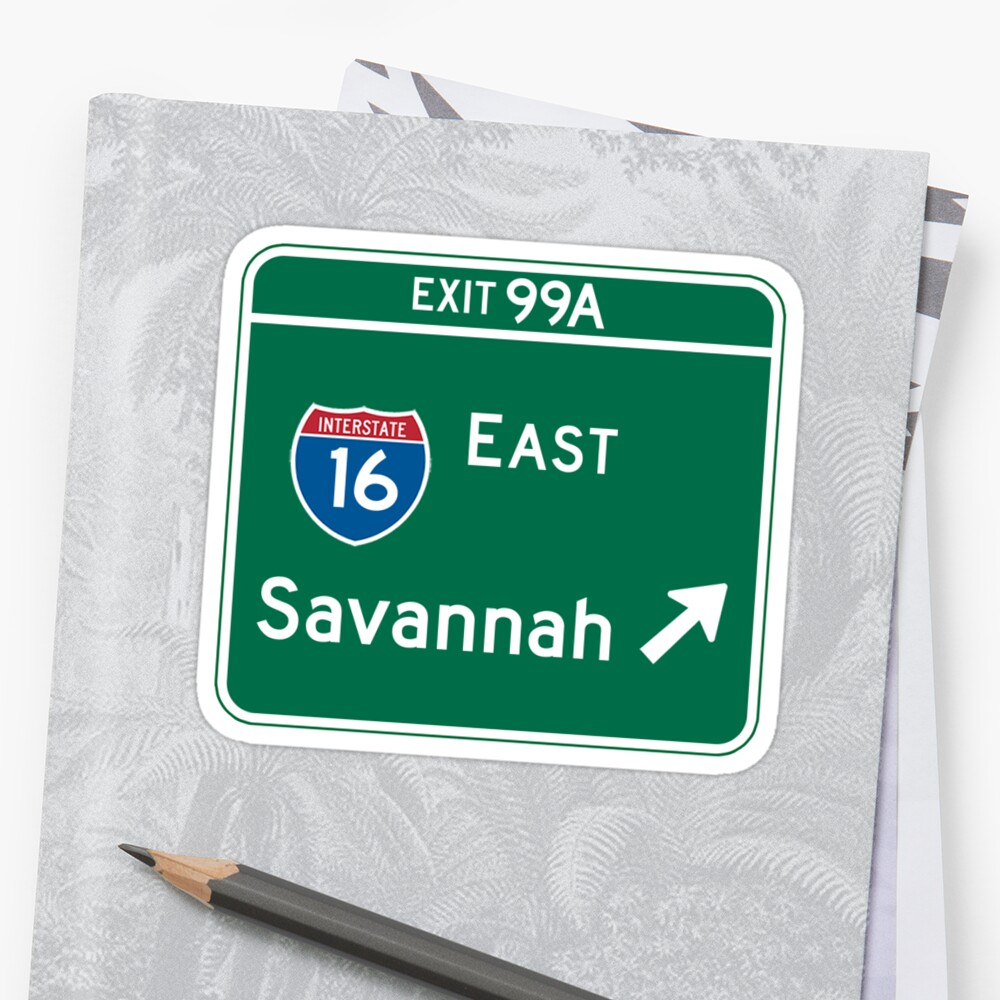 Savannah, GA Road Sign, USA by worldofsigns