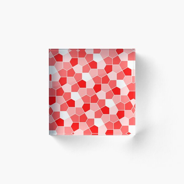 Cairo Pentagonal Tiles Red Acrylic Block