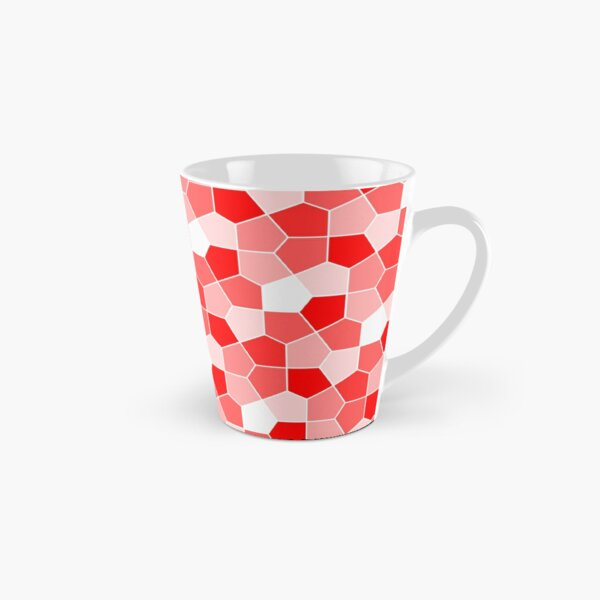 Cairo Pentagonal Tiles Red Tall Mug
