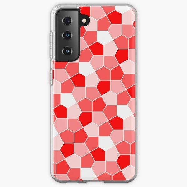 Cairo Pentagonal Tiles Red Samsung Galaxy Soft Case
