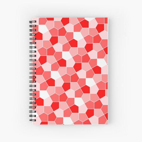 Cairo Pentagonal Tiles Red Spiral Notebook
