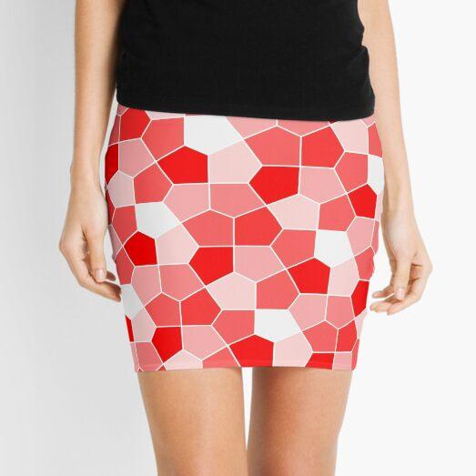 Cairo Pentagonal Tiles Red Mini Skirt