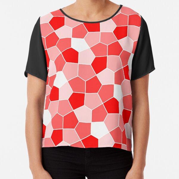 Cairo Pentagonal Tiles Red Chiffon Top