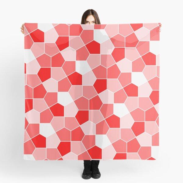 Cairo Pentagonal Tiles Red Scarf