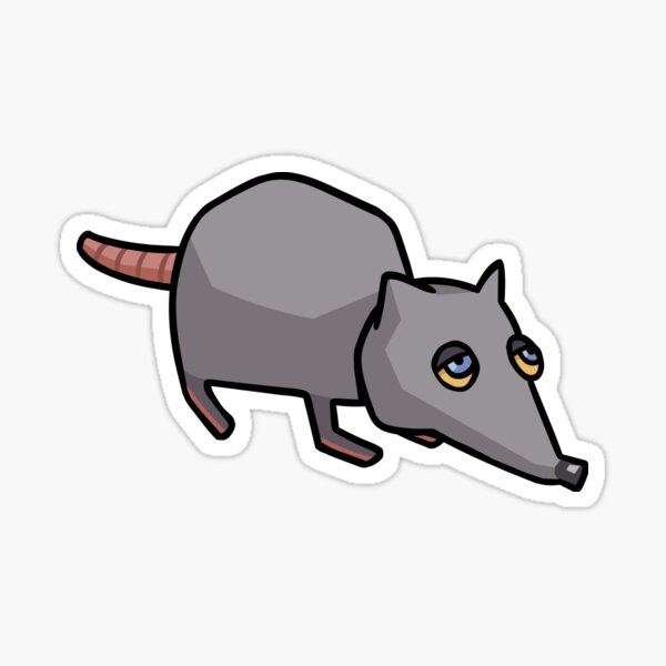 The Giant Rat That Makes All of da Rules Sticker