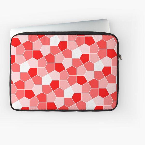 Cairo Pentagonal Tiles Red Laptop Sleeve