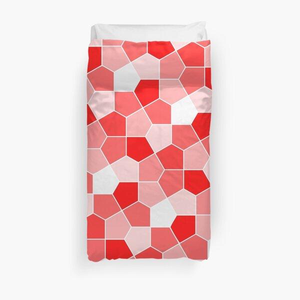 Cairo Pentagonal Tiles Red Duvet Cover