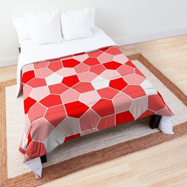 Cairo Pentagonal Tiles Red Comforter