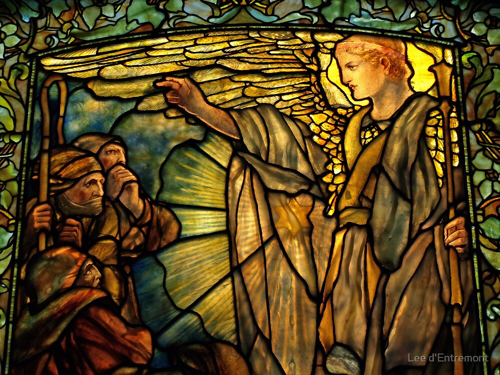 Message of the Angels to the Shepherds. (up close) by Lee d'Entremont