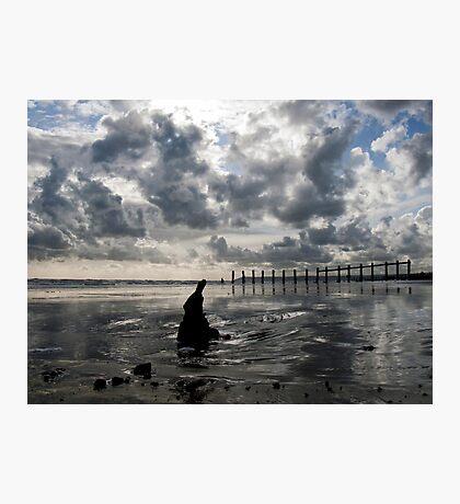 Big Skies over Cooden Photographic Print