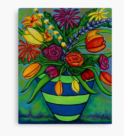 Funky Town Bouquet Canvas Print