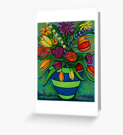 Funky Town Bouquet Greeting Card