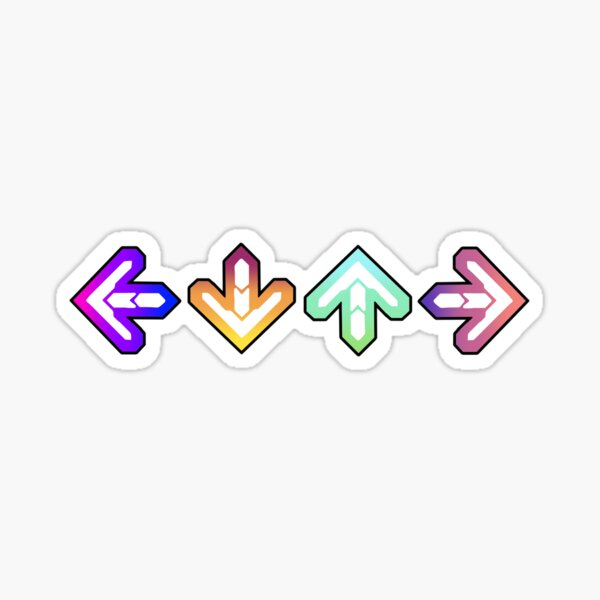 DDR Arrows Sticker