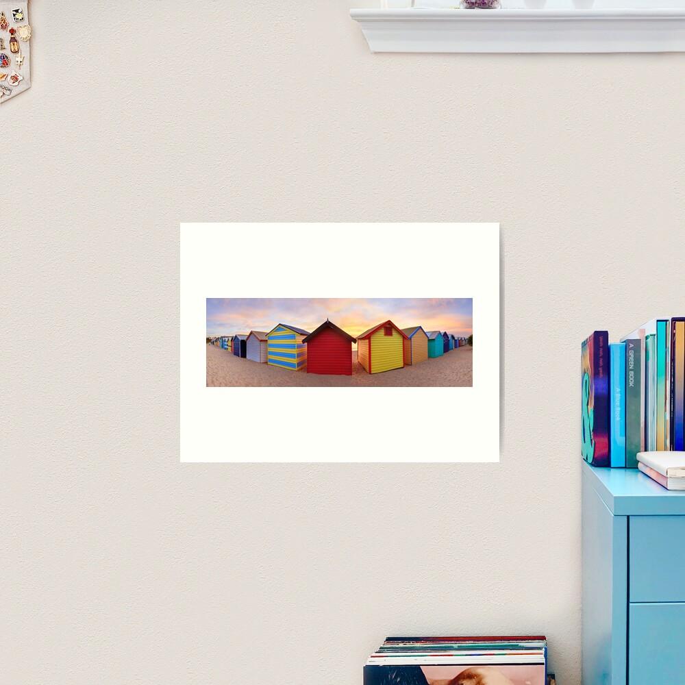 Brighton Beach Boxes, Melbourne, Victoria, Australia Art Print