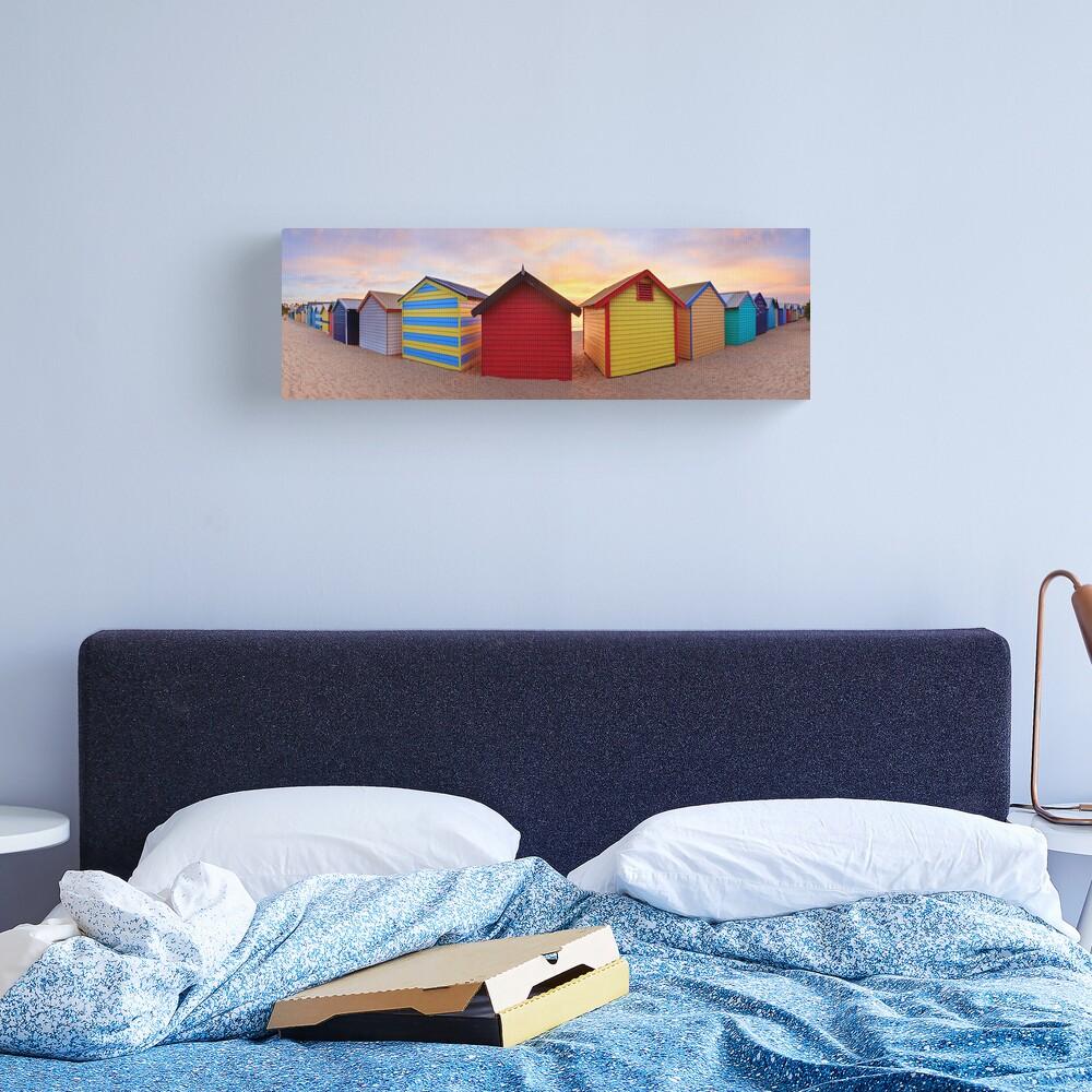 Brighton Beach Boxes, Melbourne, Victoria, Australia Canvas Print