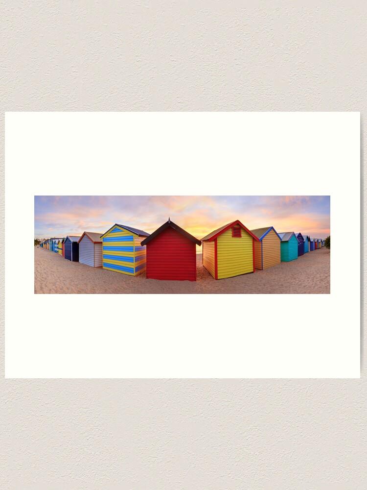 Alternate view of Brighton Beach Boxes, Melbourne, Victoria, Australia Art Print