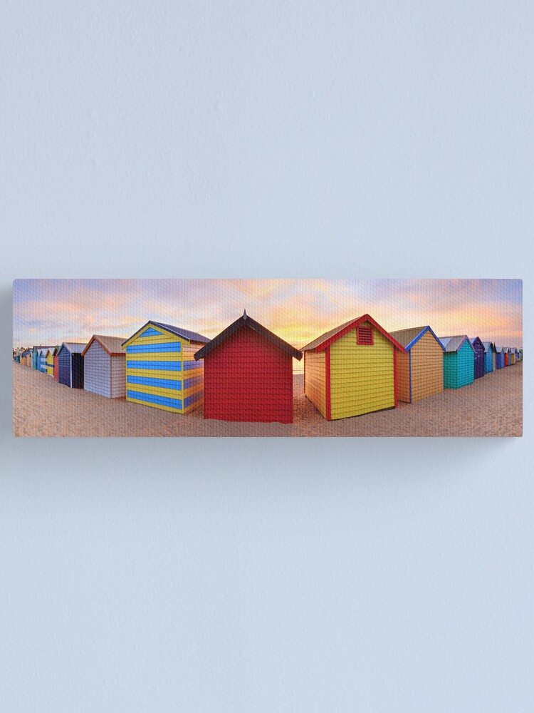 Alternate view of Brighton Beach Boxes, Melbourne, Victoria, Australia Canvas Print