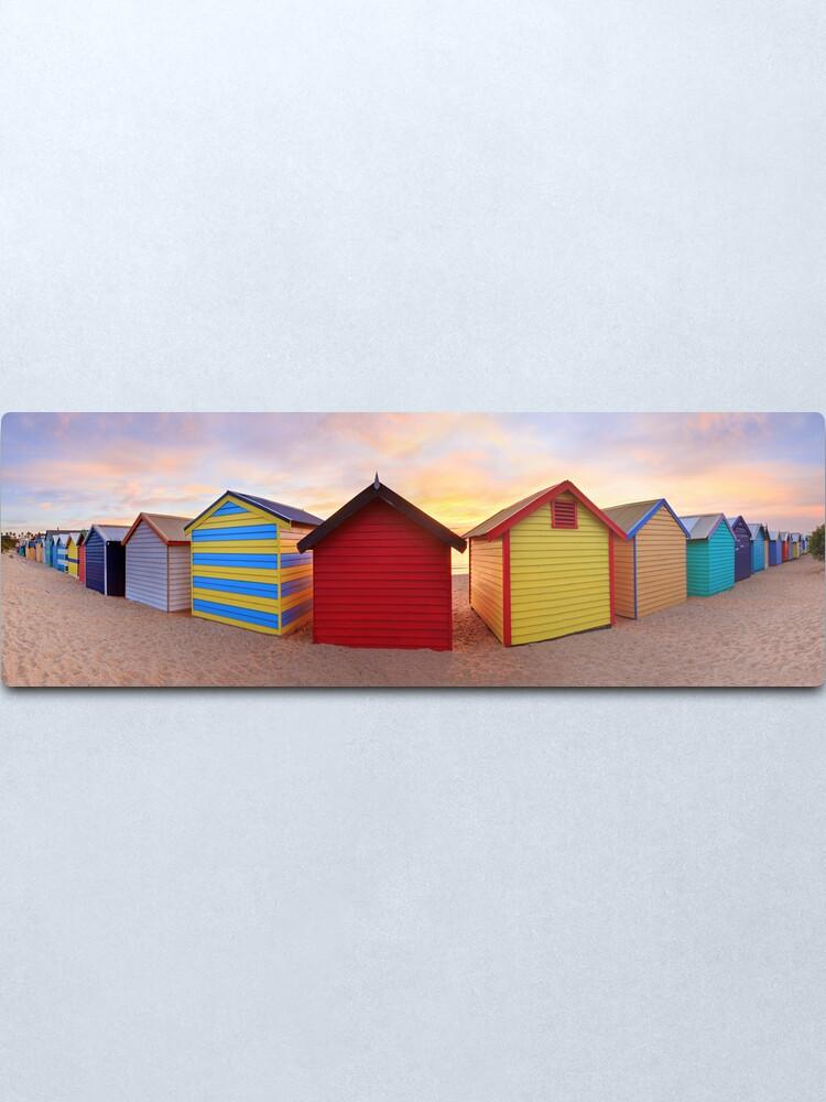 Alternate view of Brighton Beach Boxes, Melbourne, Victoria, Australia Metal Print